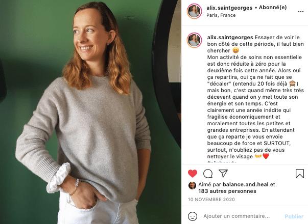 Ma sélection de cosmétiques éthiques et naturels à foilow sur Instagram, Alix le geste !