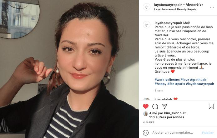 Ma sélection de cosmétiques éthiques et naturels à foilow sur Instagram, Laya Beauty Repair !