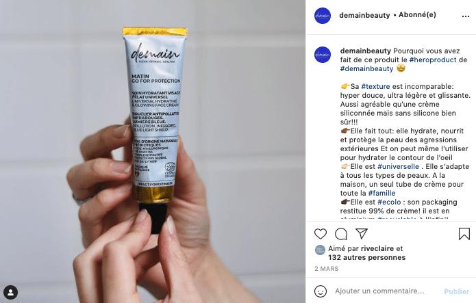 Ma sélection de cosmétiques éthiques et naturels à foilow sur Instagram, Demain !